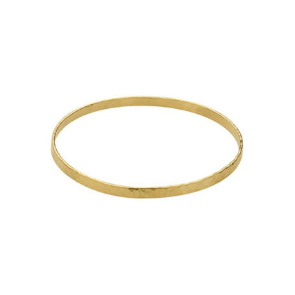 hammered-gold-bangle