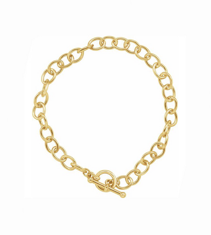 New! Gold T-Bar Chain Bracelet
