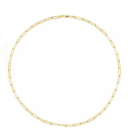 New! Gold Flat Link Chain 18inch