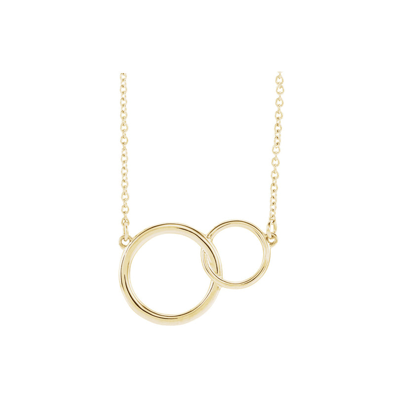 Solid 14K Gold Love Link Necklace