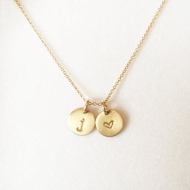 gold mini initial charms