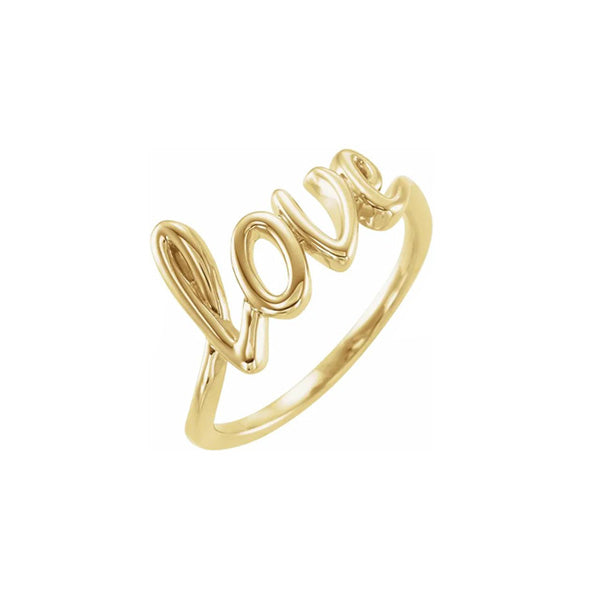 Solid Gold Love Ring