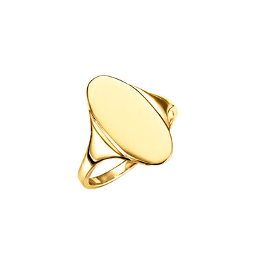 Solid Gold Engravable Signet Ring