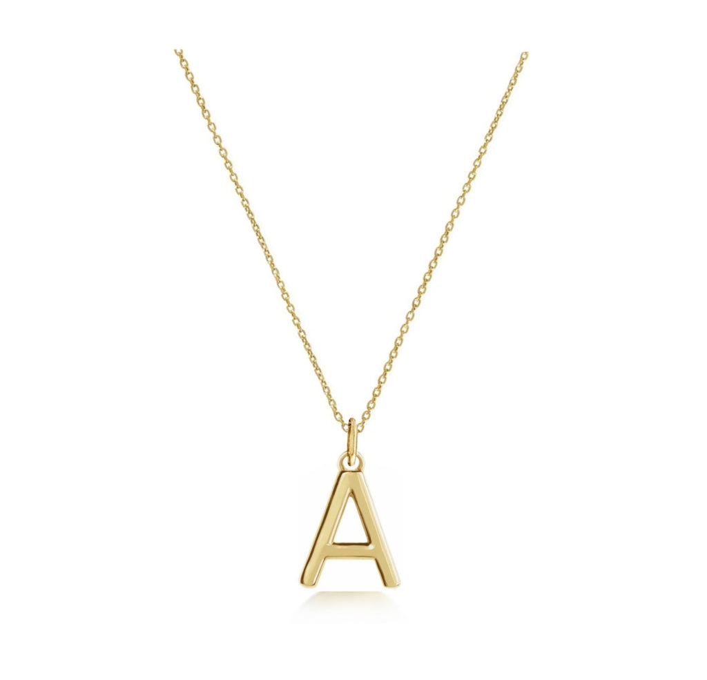 Solid Gold Mini Love Letter Necklace