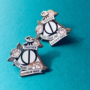 Harry Potter Deathly Hallows Hard enamel pin Preorder