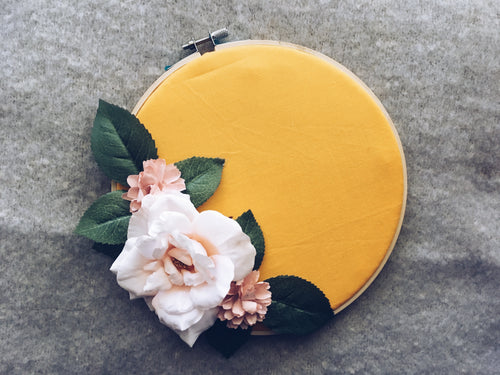Orange + Floral Pin Hoop