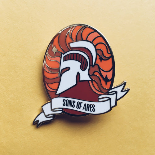 Red Rising I Sons of Ares Enamel Pins