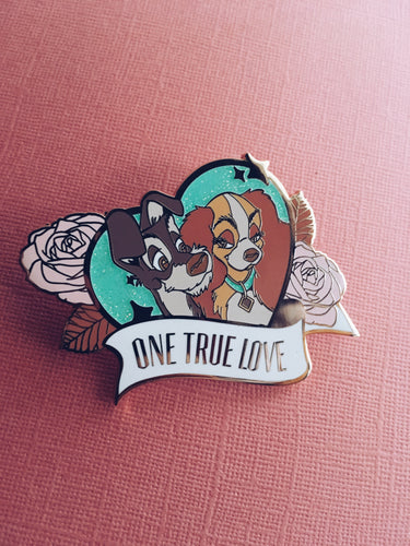 Lady and The Tramp Fantasy Enamel Pin