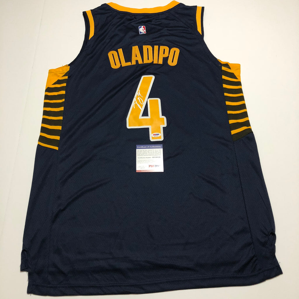 on sale e6a49 c6089 Victor Oladipo signed jersey PSA/DNA Indiana Pacers Autographed blue