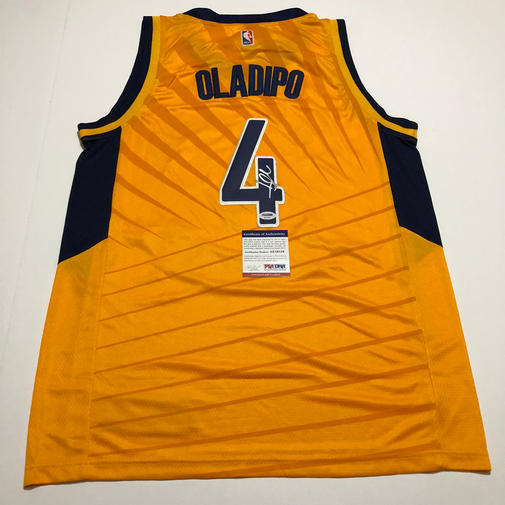 sneakers for cheap 3040f 93272 Victor Oladipo signed jersey PSA/DNA Indiana Pacers Autographed yellow