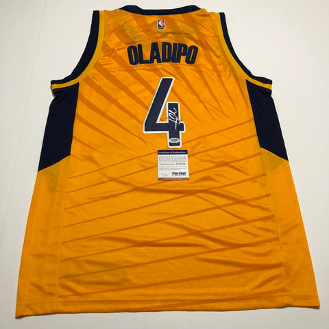 Victor Oladipo signed jersey PSA/DNA Indiana Pacers Autographed yellow