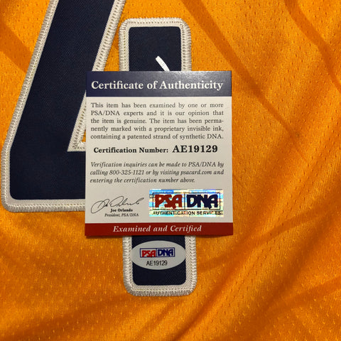 sneakers for cheap 735a5 dc517 Victor Oladipo signed jersey PSA/DNA Indiana Pacers Autographed yellow