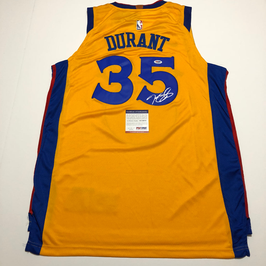 online retailer bc2b7 2c51e Kevin Durant signed jersey PSA/DNA Warriors Autographed The Bay