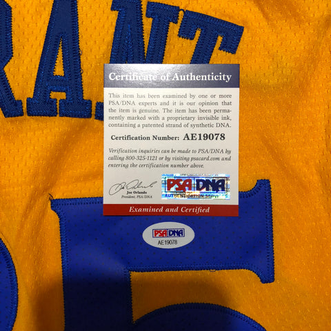 b6660754 Kevin Durant signed jersey PSA/DNA Warriors Autographed The Bay ...