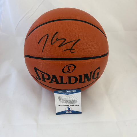Kevin Durant signed Basketball BAS Beckett Golden State Warriors autographed