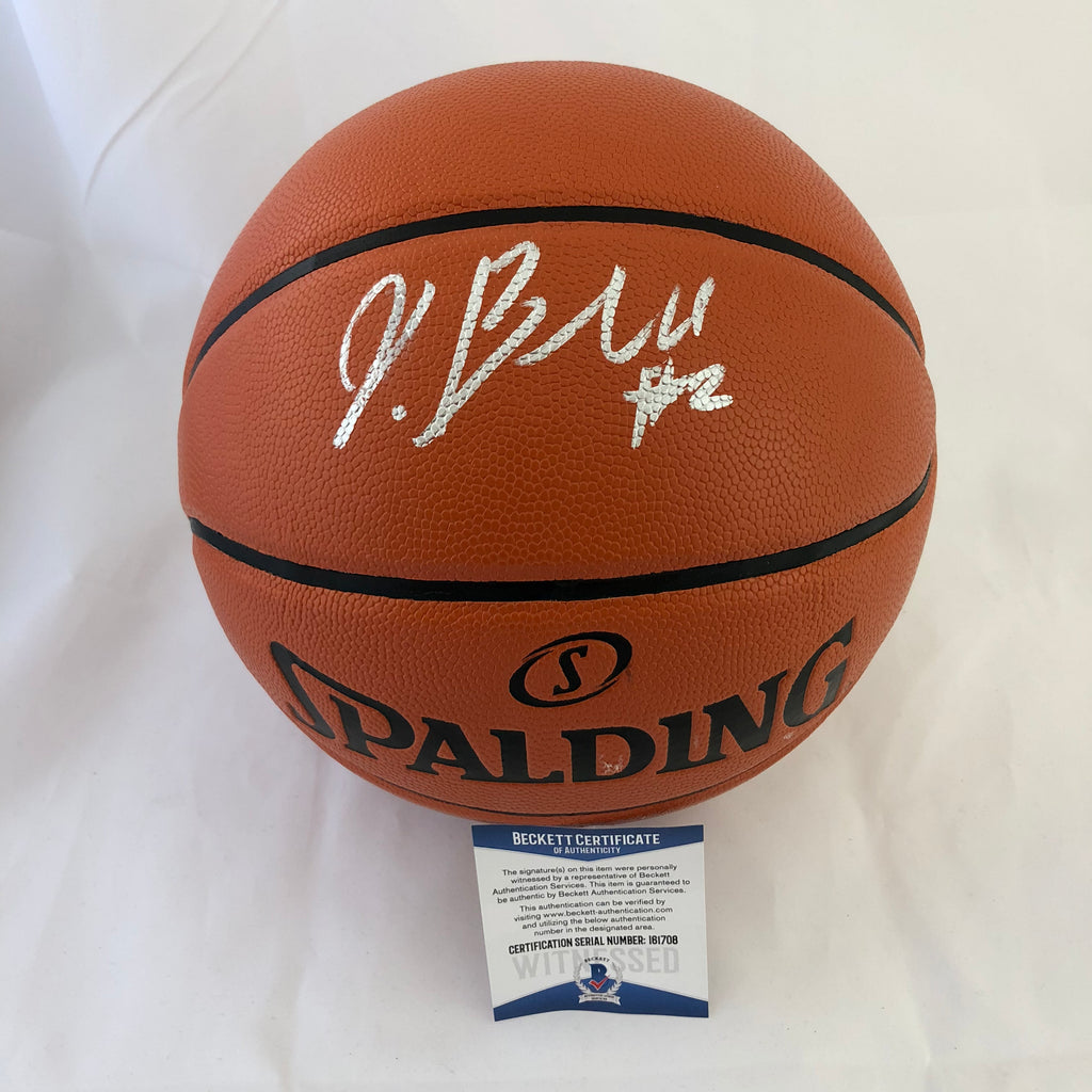 new york df64c 66bf0 Jordan Bell signed Basketball BAS Beckett Golden State Warriors autographed