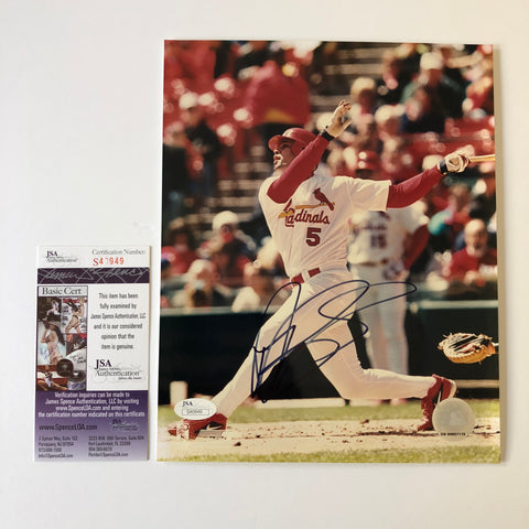 Albert Pujols signed 8x10 photo JSA COA St. Louis Cardinals Autographed