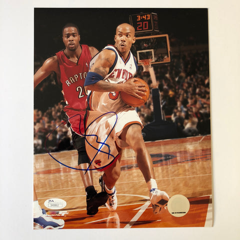 Stephon Marbury signed 8x10 photo JSA COA New York Knicks Autographed