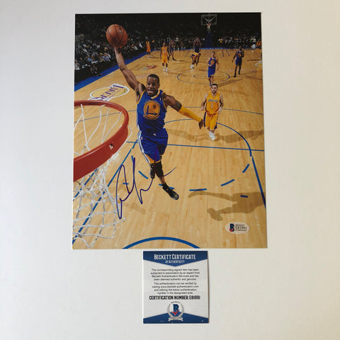 Andre Iguodala signed 8x10 photo BAS Beckett Golden State Warriors Autographed