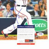 Freddie Freeman signed 8x10 photo PSA/DNA Atlanta Braves Autographed