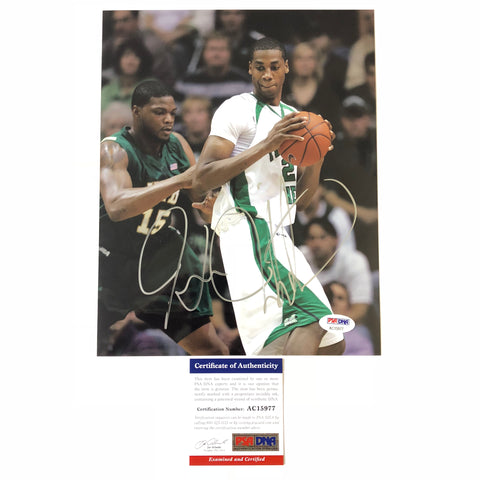 Hassan Whiteside signed 8x10 photo PSA/DNA Miami Heat Autographed Marshall Thundering Herd