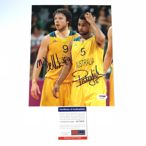 Matthew Dellavedova Patty Mills signed 11x14 photo PSA/DNA Australia Autographed