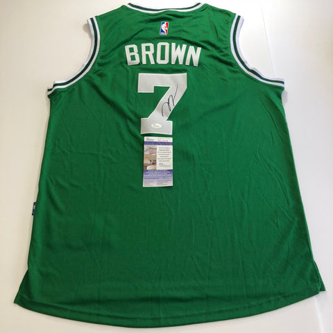 Jaylen Brown signed jersey JSA COA Boston Celtics Autographed Green