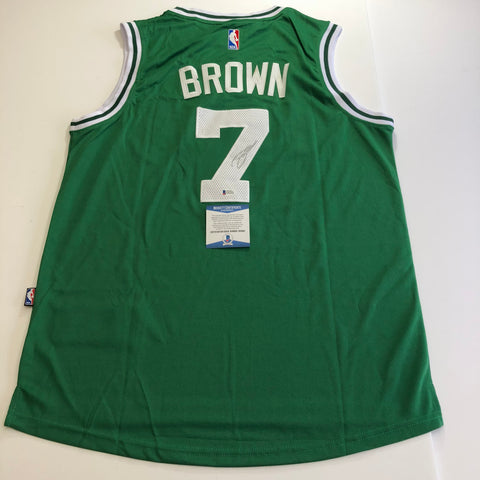 Jaylen Brown signed jersey BAS Beckett Boston Celtics Autographed Green