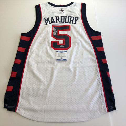 Stephon Marbury signed jersey BAS Beckett New York Knicks Autographed Team USA