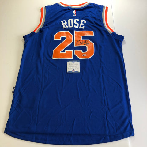 Derrick Rose signed jersey BAS Beckett New York Knicks Autographed