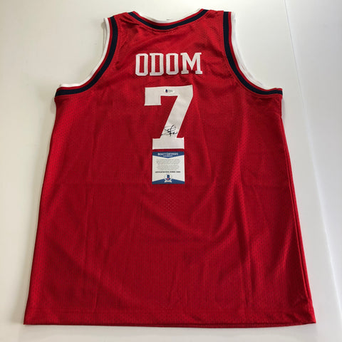 Lamar Odom signed jersey BAS Beckett Los Angeles Clippers Autographed