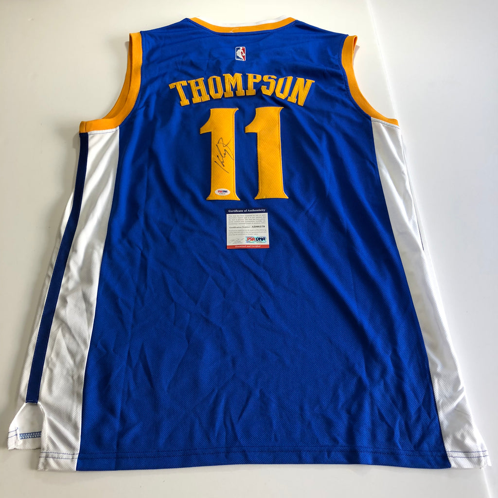 ... discount code for klay thompson signed jersey psa dna golden state  warriors autographed d5fd8 dbfec ... 3bd3c3709