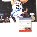 Tim Duncan signed 8x10 photo PSA/DNA San Antonio Spurs Autographed