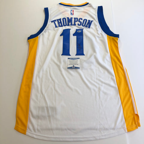 Klay Thompson signed jersey BAS Beckett Golden State Warriors Autographed