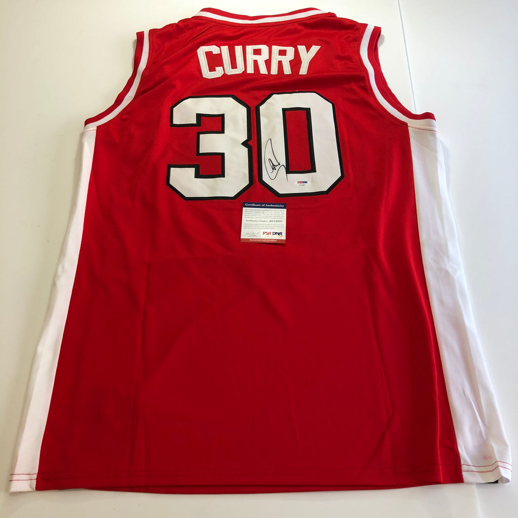 the best attitude 0dab7 05f34 Stephen Curry signed jersey PSA/DNA Warriors Autographed Davidson Steph