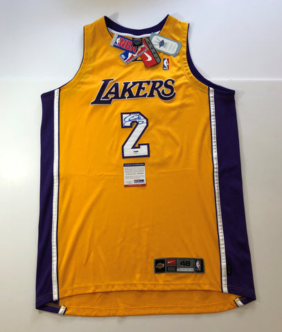 Derek Fisher signed jersey PSA/DNA Los Angeles Lakers Autographed