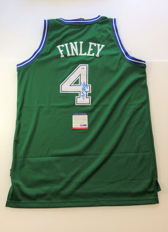 Michael Finley signed jersey PSA/DNA Dallas Mavericks Autographed Green