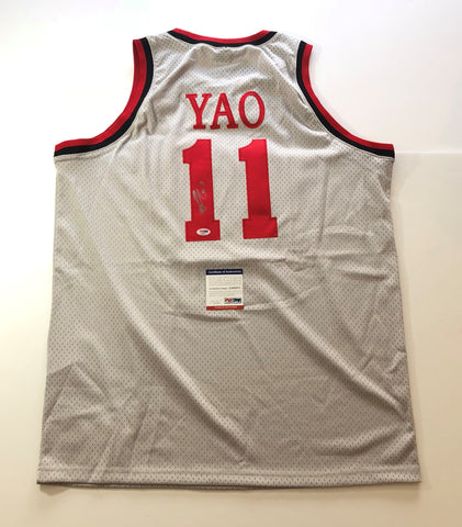 Yao Ming signed jersey PSA/DNA Houston Rockets Autographed