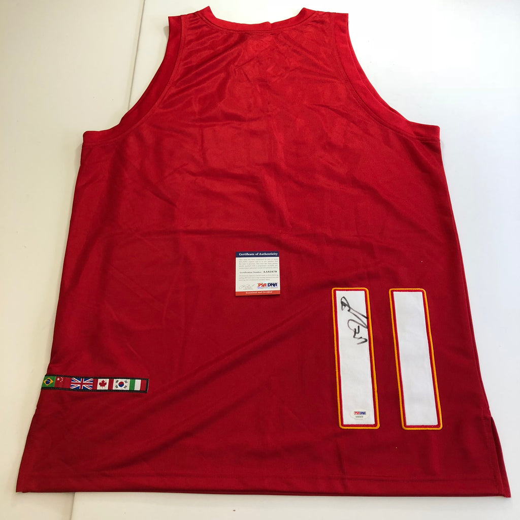 hot sale online 3dde9 da6a0 Yao Ming signed jersey PSA/DNA Team China Autographed