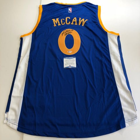 Patrick McCaw signed jersey BAS Beckett Golden State Warriors Autographed