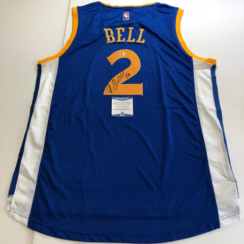 Jordan Bell signed jersey BAS Beckett Golden State Warriors Autographed Blue