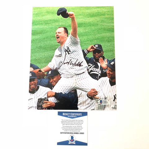 David Wells signed 8x10 photo BAS New York Yankees Autographed
