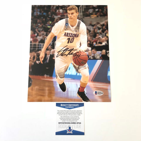 Lauri Markkanen signed 8x10 photo BAS Beckett Chicago Bulls Autographed