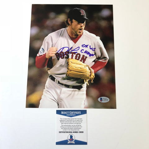 Derek Lowe signed 8x10 photo BAS Beckett Boston Red Sox Autographed Inscribed