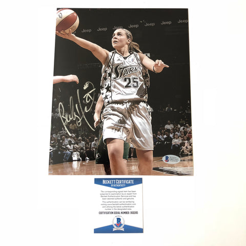 Becky Hammon signed 8x10 photo BAS Beckett San Antonio Stars Autographed