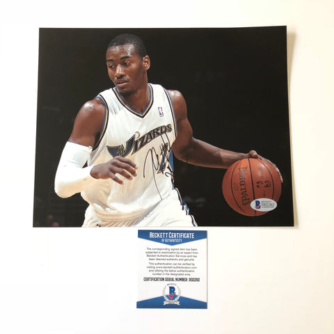 John Wall signed 8x10 photo BAS Beckett Washington Wizards Autographed