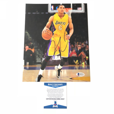 Jordan Clarkson signed 8x10 photo BAS Beckett Los Angeles Lakers Autographed