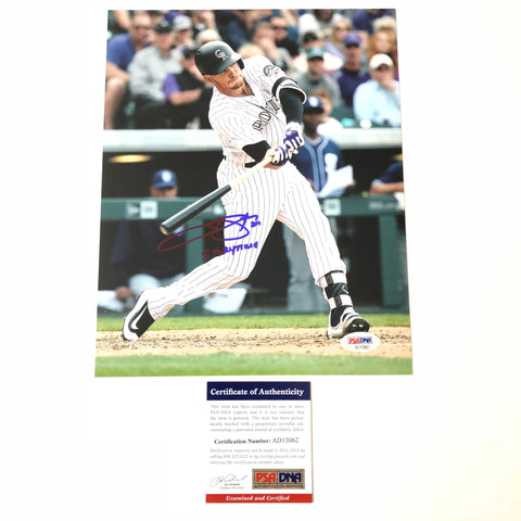 Trevor Story signed 8x10 photo PSA/DNA Colorado Rockies Autographed Inscribed