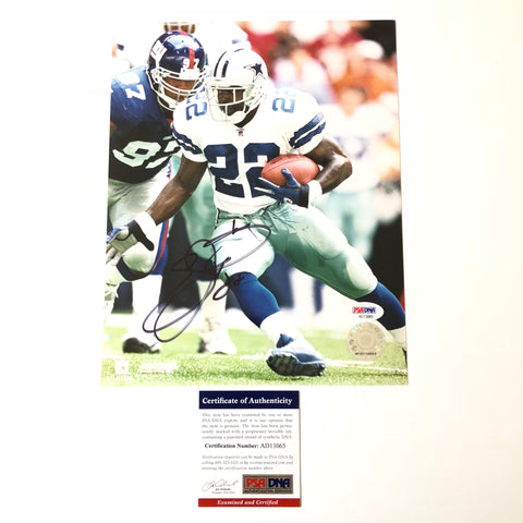 Emmitt Smith signed 8x10 photo PSA/DNA Dallas Cowboys Autographed