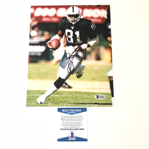 Tim Brown signed 8x10 photo BAS Beckett Oakland Raiders Autographed